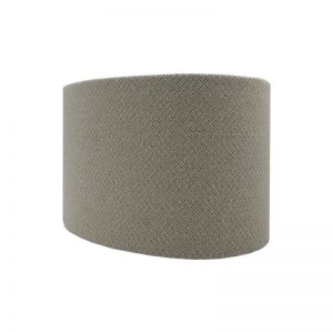 Cream Herringbone Oval Lampshade