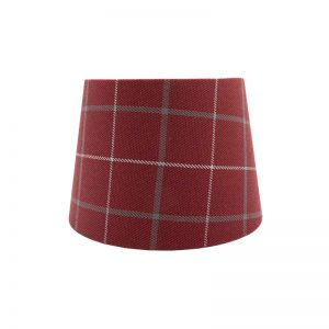 Exford Cherry Tartan French Drum Lampshade