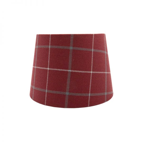 Exford Cherry Tartan French Drum Lampshade