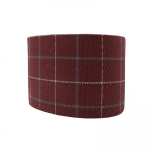 Exford Cherry Tartan Oval Lampshade