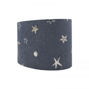Moon Stars Blue Oval Lampshade