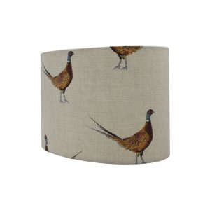 Mr Pheasant Oval Lampshade