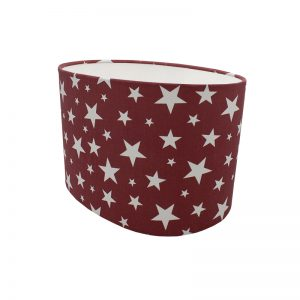 Red Stars Oval Lampshade
