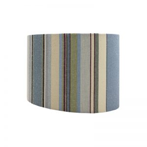 Remake Stripe Blue Oval Lampshade