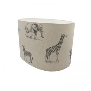 Safari Oval Lampshade