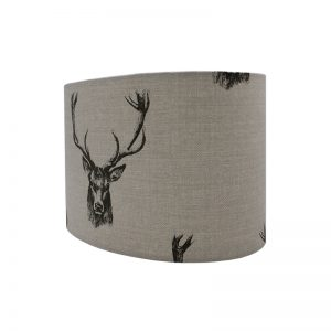 Stag Head Oval Lampshade