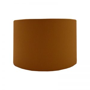 Burnt Orange Velvet Drum Lampshade