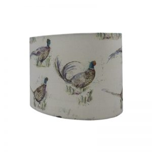 Voyage Dashing Pheasant Oval Lampshade