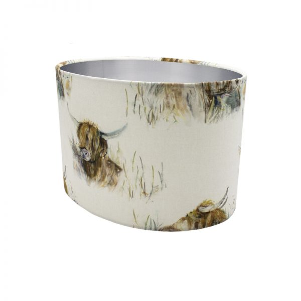 Voyage Highland Cattle Oval Lampshade