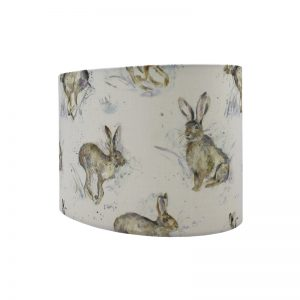 Voyage Hurtling Hare Oval Lampshade