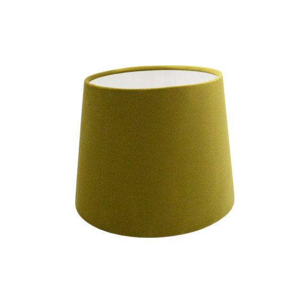 Mustard Yellow Velvet French Drum Lampshade