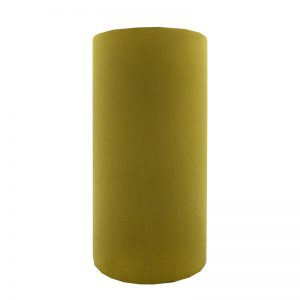 Mustard Yellow Velvet Tall Drum Lampshade