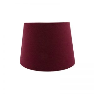 Red Velvet French Drum Lampshade