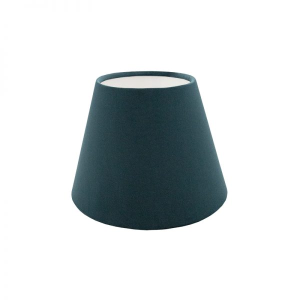Teal Velvet Empire Lampshade