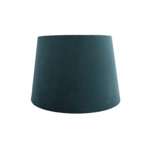 Teal Velvet French Drum Lampshade