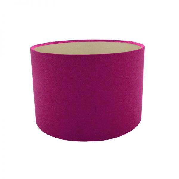 Fuchsia Bright Pink Velvet Drum Lampshade