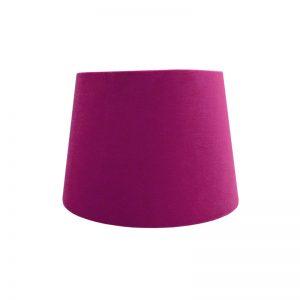Fuchsia Bright Pink Velvet French Drum Lampshade