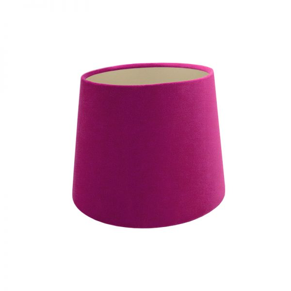 Fuchsia Bright Pink Velvet French Drum Lampshade