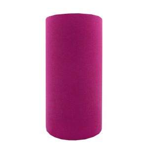 Fuchsia Bright Pink Velvet Tall Drum Lampshade