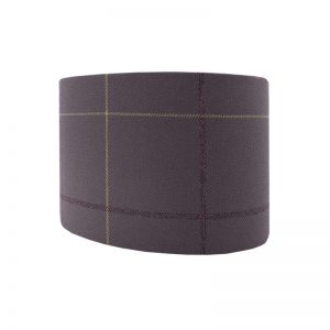 Winsford Lavender Tartan Oval Lampshade