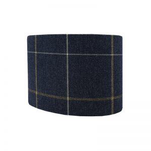 Winsford Navy Blue Tartan Oval Lampshade