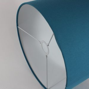 Aqua Drum Lampshade White Inner