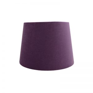 Aubergine Purple Velvet French Drum Lampshade