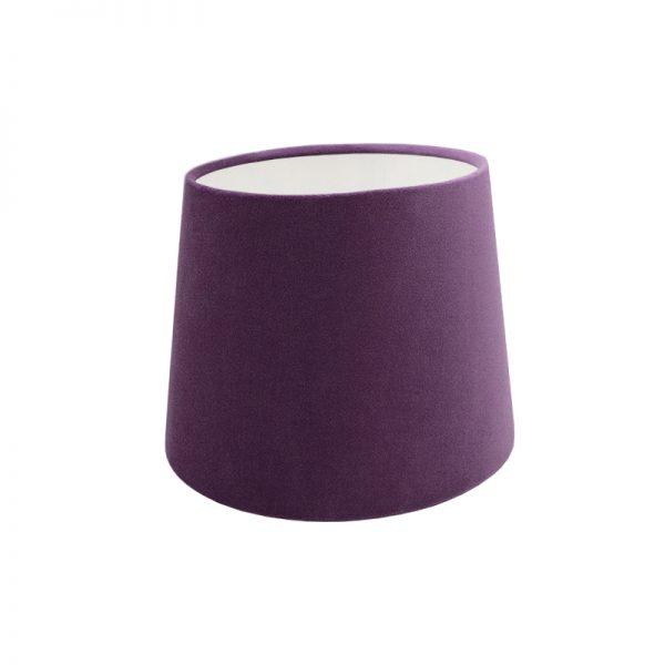 Aubergine Purple Velvet French Drum Lampshade