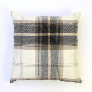 Balmoral Charcoal Square Cushion