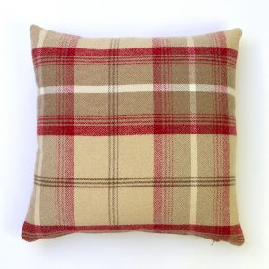 Balmoral Cranberry Square Cushion