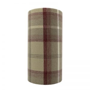 Balmoral Cranberry Tall Drum Lampshade