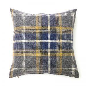 Balmoral Navy Blue Square Cushion