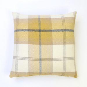 Balmoral Ochre Square Cushion