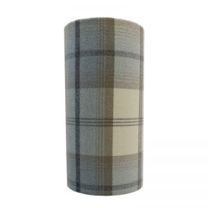 Balmoral Sky Blue Tall Drum Lampshade