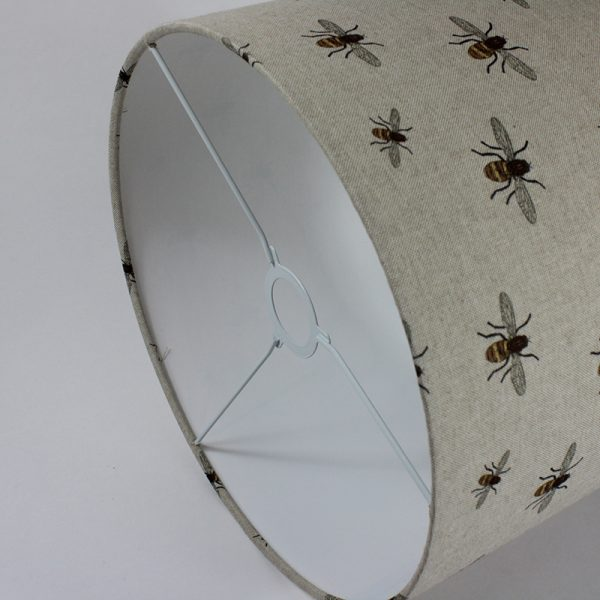 Bees Floor Drum Lampshade White Inner
