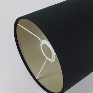 Black Drum Lampshade Cream Inner