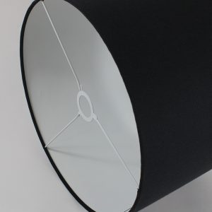 Black Drum Lampshade White Inner