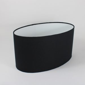 Black Oval Lampshade White Inner