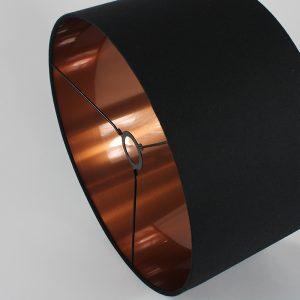 Black Drum Lampshade Copper Inner
