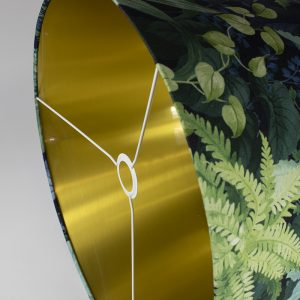 Botanical French Drum Lampshade Gold Inner