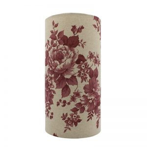 Bright Red Rose Tall Drum Lampshade