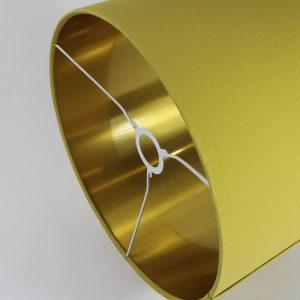 Bright Yellow Drum Lampshade Gold Inner