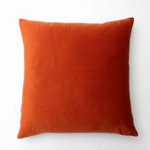 Burnt Orange Velvet Cushion