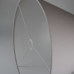 Baby Pink French Drum Lampshade White Inner