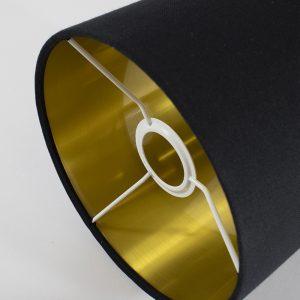 Black Drum Lampshade Gold Inner