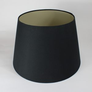Black Empire Table Lampshade Champagne Inner