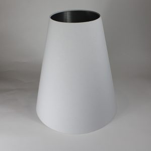 White Tall Tapered Floor Lampshade Silver Inner