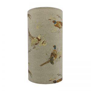 Country Pheasant Tall Drum Lampshade