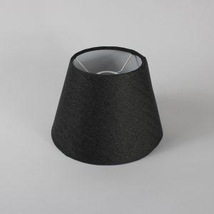 Dark Grey Herringbone Empire Ceiling Lampshade White Inner
