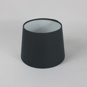 Dark Grey French Drum Floor Lampshade White Inner
